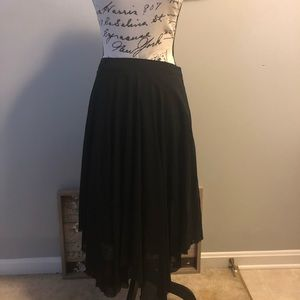 Topshop Skirts - ⭐️ Topshop Asymmetrical Sheer Lined Black Skirt G2